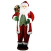 "Garden State Foliage 60"" Pop Up Santa Dressed in Traditional Red Velvet with Giftbag"