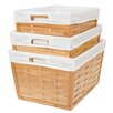 BirdRock Home 3 Piece Bamboo Nesting Basket Set