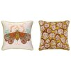 Sarah Watts Moth Reversible Printed and Embroidered Pillow