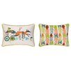 <strong>Sarah Watts</strong> Running Fox Reversible Printed and Embroidered Pillow