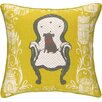 Sarah Watts Victorian Dog Reversible Printed and Embroidered Pillow