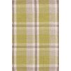 Bunny Williams for Dash and Albert Brewster Green Plaiditude Indoor/Outdoor Rug