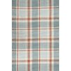 Bunny Williams for Dash and Albert Scooter Blue Plaid Indoor/Outdoor Rug