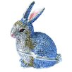 Cristiani Collezione Rhodium Plated Crystal Paved Rabbit Keepsake Box