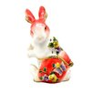 Cristiani Collezione 24KT Gold Plated Rabbit with Butterfly and Flowers Keepsake Box