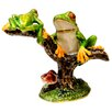 Cristiani Collezione 24KT Gold Plated Mother and Baby Frog on Tree Keepsake Box