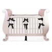 <strong>Little Crown Interiors</strong> Black and White Silk 3 Piece Crib Bedding Set with Bows