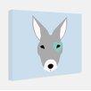 """Little Crown Interiors """"Boomer"""" Modern Kangaroo Nursery Canvas Art"""