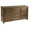 Stein World Portico Brass 2 Door and 4 Drawer Cabinet