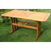 <strong>International Caravan</strong> Royal Tahiti Balau Rectangular Patio Dining Table