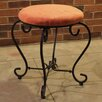 <strong>International Caravan</strong> Cambridge Round Iron Vanity Stool