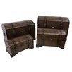 International Caravan Seville Faux Leather Indoor Storage Trunks (Set of 4)