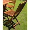 International Caravan Royal Tahiti Folding Dining Side Chair