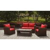 <strong>International Caravan</strong> St. Lucia Wicker Resin Aluminum 4 Piece Deep Seating Group