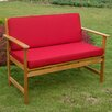 International Caravan Royal Tahiti Wood Garden Bench