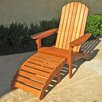 International Caravan Royal Tahiti Adirondack Chair with Footrest