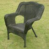 International Caravan Chelsea Wicker Resin Steel Deep Seated Patio Chair