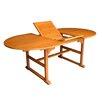 International Caravan Royal Tahiti Heavy-Duty Extendable Wood Dining Table
