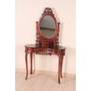 <strong>International Caravan</strong> Windsor Hand Carved Vanity with Mirror