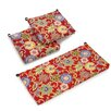 Blazing Needles Patio Chair and Loveseat Cushion (Set of 3)