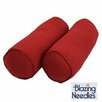 <strong>Blazing Needles</strong> Needles Solid Twill Bolster Pillows (Set of 2)