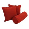 Blazing Needles 3-Piece Solid Pillow Package (Set of 3)