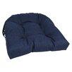 Blazing Needles All Weather UV Resistant U-shape Patio Chair Cushion (Set of 4)