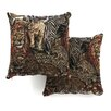"<strong>Blazing Needles</strong> 18"" Tapestry Throw Pillow (Set of 2)"