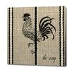 Obvious Place Rooster Le Coq Painting Print on Canvas in Black
