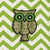 <strong>Obvious Place</strong> Owl Graphic Art on Canvas in Green