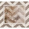 <strong>Obvious Place</strong> Vintage Lace and Pearls Beige Chevron Graphic Art on Canvas