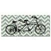 Obvious Place Vintage Tandem Bike 3 Piece Graphic Art on Canvas Set