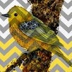 <strong>Obvious Place</strong> ZZ Bird Graphic Art on Canvas in Yellow
