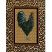 Obvious Place Camel Rooster Graphic Art on Canvas in Brown and Black