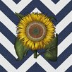 Obvious Place Vintage Sunflower Graphic Art on Canvas in Multi