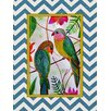 Obvious Place Birds of Paradise Print of Painting on Canvas in Multi