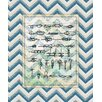 <strong>Obvious Place</strong> Nautical Knots Graphic Art on Canvas in Blue
