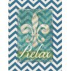 Obvious Place Fleur De Lis Relax Print of Painting on Canvas in Multi