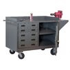 """<strong>Durham Manufacturing</strong> 39.75"""" H x 65"""" W x 24"""" D Mobile Bench Cabinet"""