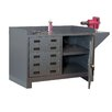 "Durham Manufacturing 60"" 14 Gauge Welded Steel Stationary Work Station"
