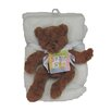 Cozy Fleece Plush Novelty Bear Crib Blanket