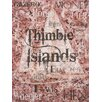 Graffitee Studios Connecticut Thimbles - Thimble Islands Textual Art on Canvas