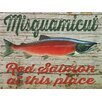 Graffitee Studios Rhode Island Misquamicut Red Salmon Framed Vintage Advertisement