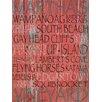 Graffitee Studios Cape Cod Martha's Vineyard Textual Art on Canvas