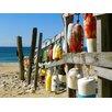 Graffitee Studios Coastal Beach Buoys Photographic Print on Canvas