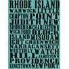 Graffitee Studios Rhode Island Towns of Rhode Island Textual Art on Canvas