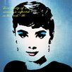 Graffitee Studios Pop Art Actress Icons Audrey True Beauty Graphic Art on Wrapped Canvas