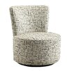 Kingstown Home Alfosa US Geographic Name Print Swivel Side Chair