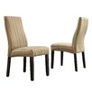 Kingstown Home Kalani Wave Back Parsons Chair (Set of 2)