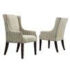 Kingstown Home Mandala Stripe Print Sloped Arm Chair